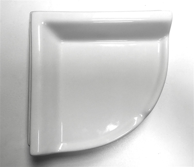 Corner Shelf White Ceramic Bath Accessory Shower Thinset